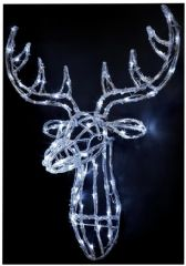 PREMIER LV161128W  70Cm Led Acrylic White R-Deer Head